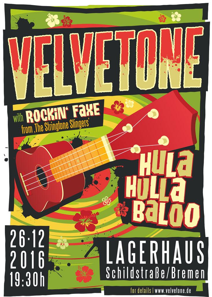 ©2016 Velvetone w/ROCKIN' FAXE Poster Hula-Hullabaloo