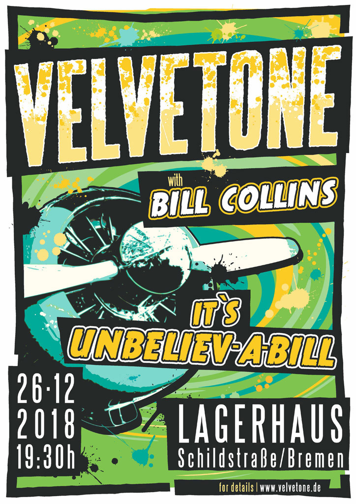 ©2018 Velvetone w/BILL COLLINS Poster It's Unbeliev-A-Bill