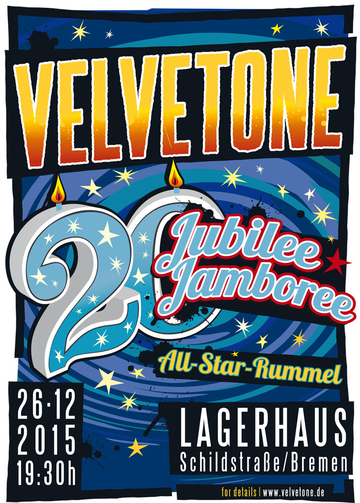 ©2015 Velvetone Poster 20 Years Jubilee Jamboree